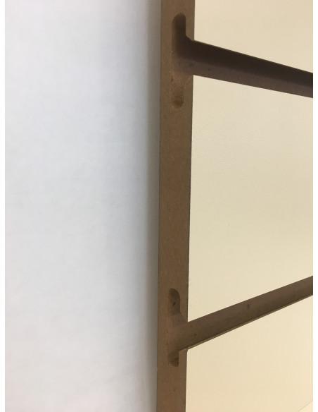 Slatwall board cream colour