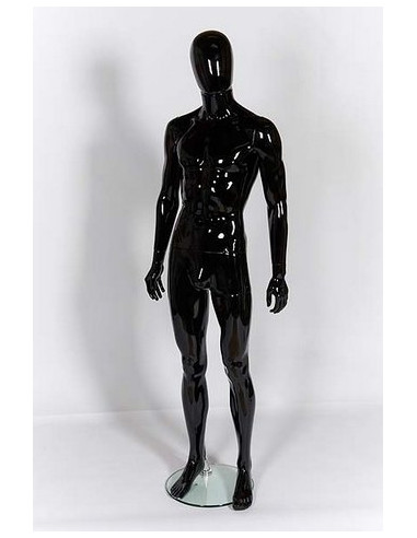 Black Male Ghost Sport Mannequin with Egg Head for Clothing Display