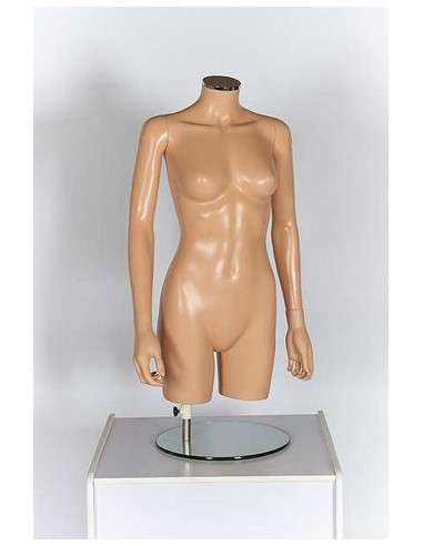 Headless Half Body Torso Mannequin for Female Clothing Display