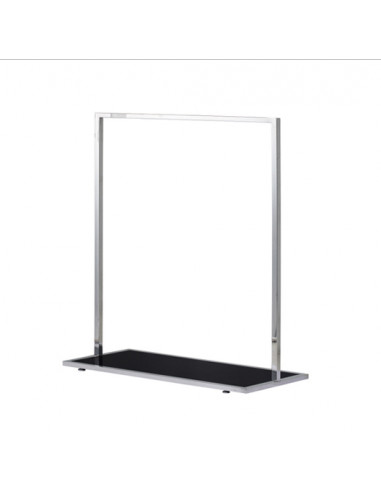 Garment Clothes Rail - Black Glass Clothing Display Rail