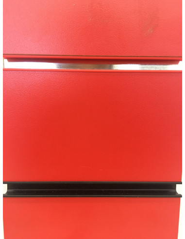Slatwall panel red colour