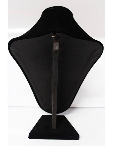 Jewellery Display Stand - Jewelry Bust Decor Bust Fat Upholstered Velours Black