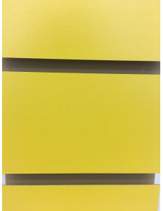 Slatwall yellow colour