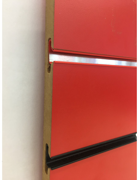 Slatwall board panel red colour 18MM