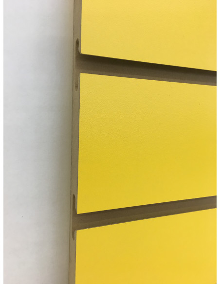 UK Slatwall yellow colour